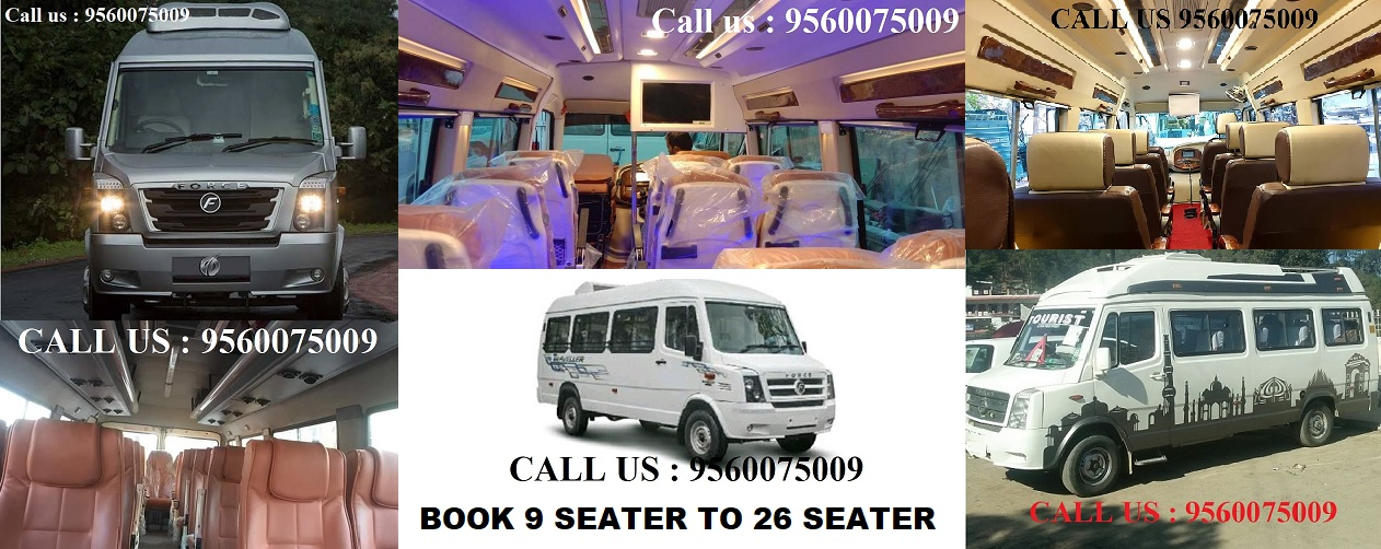 Tempo traveller on rent in Sector 58 faridabad